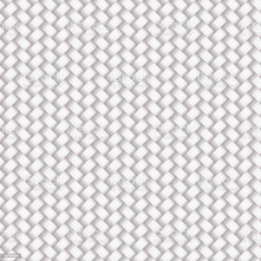 White Seamless Wicker Pattern vector art illustration
