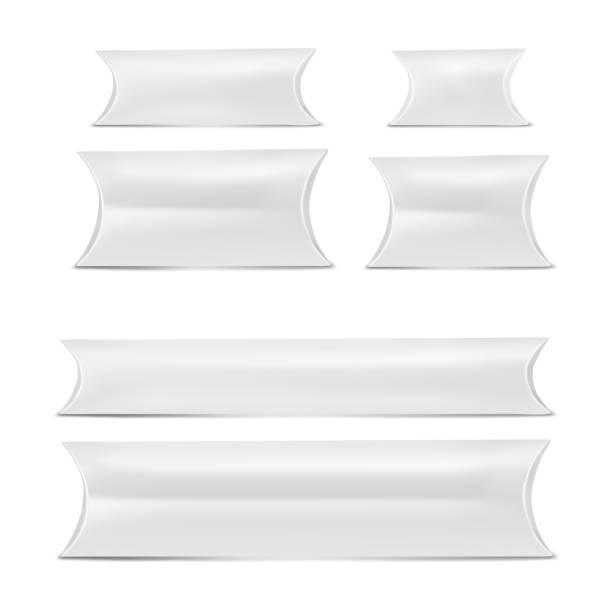 Weiße Stellen Pillow box – Vektorgrafik