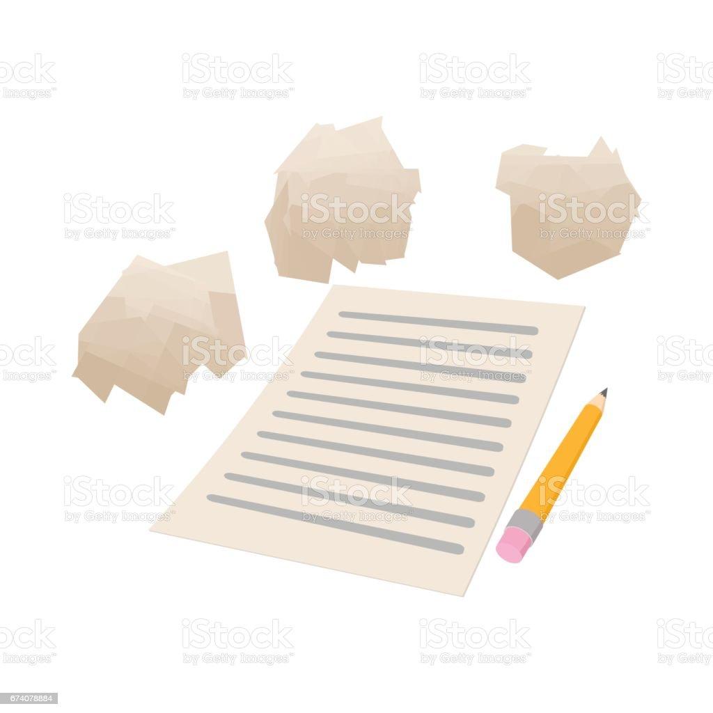 Feuille de papier et l'icône de papier froissé blanc feuille de papier et licône de papier froissé blanc – cliparts vectoriels et plus d'images de blanc libre de droits