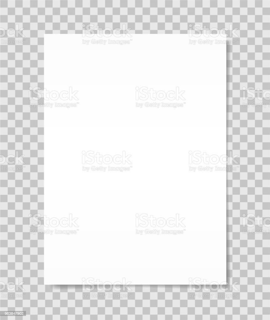 White sheet of paper. Realistic vector - Royalty-free Blank stock vector