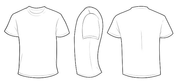 Royalty Free T Shirt Template Clip Art, Vector Images ...
