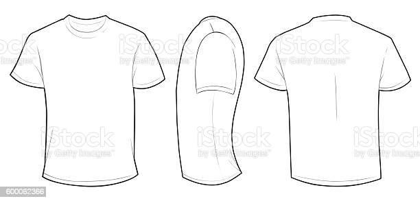 White Shirt Template Stockvectorkunst en meer beelden van Clipart