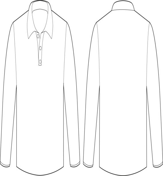 Royalty Free Long Sleeve T Shirt Template Clip Art Clip Art Vector - Long sleeve t shirt template