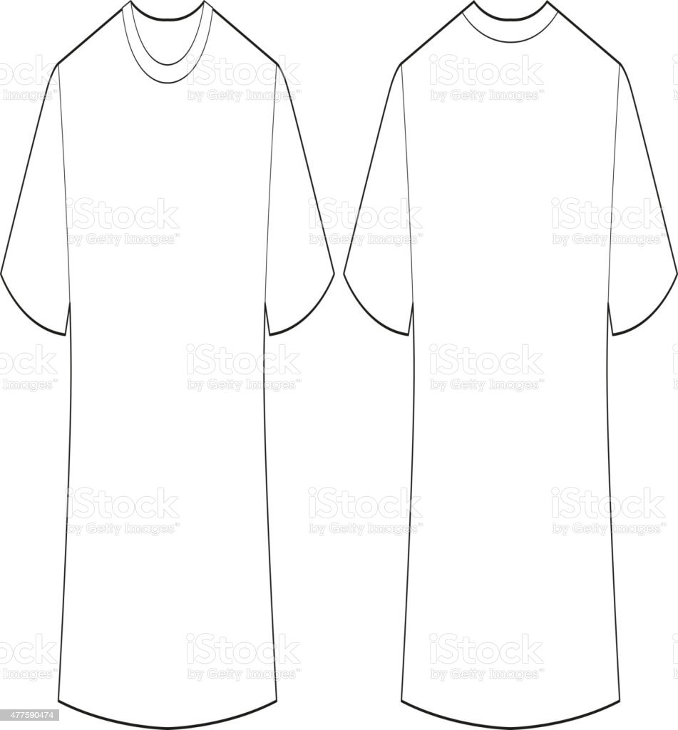 White shirt vector art illustration
