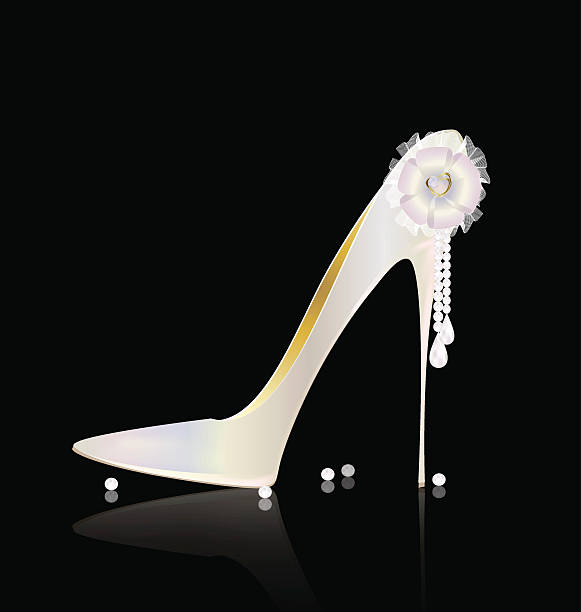 white shoe und schleife - perlenweben stock-grafiken, -clipart, -cartoons und -symbole