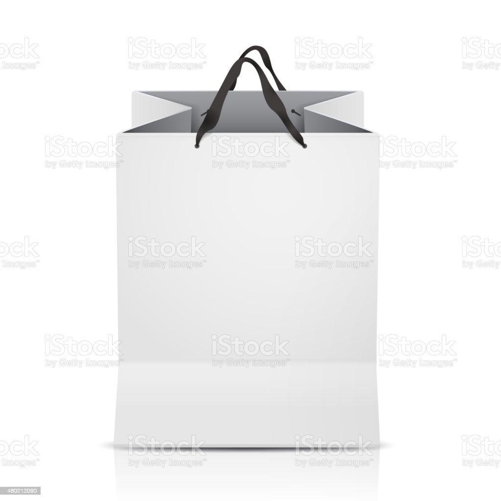 white shopping bag template stock vector art amp more images