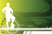 White silhouette of a soccer player