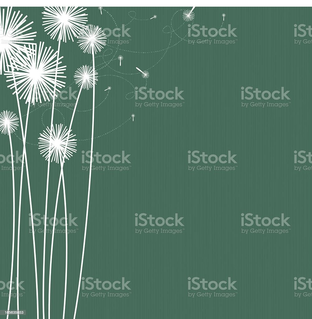 White silhouette of dandelions on green background royalty-free white silhouette of dandelions on green background stock vector art & more images of backgrounds