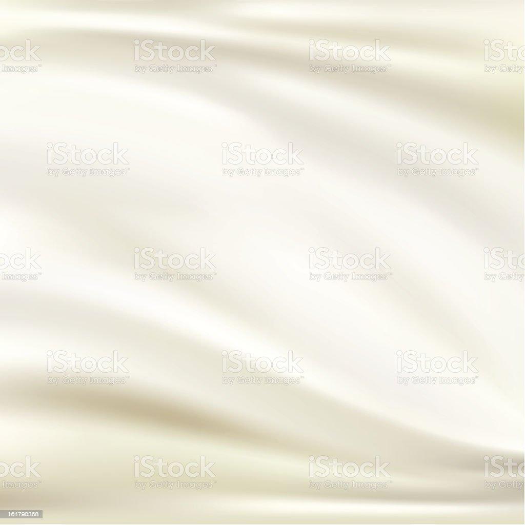 White silk background vector art illustration
