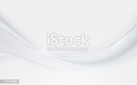 istock White silk satin background smooth texture background 1203046667