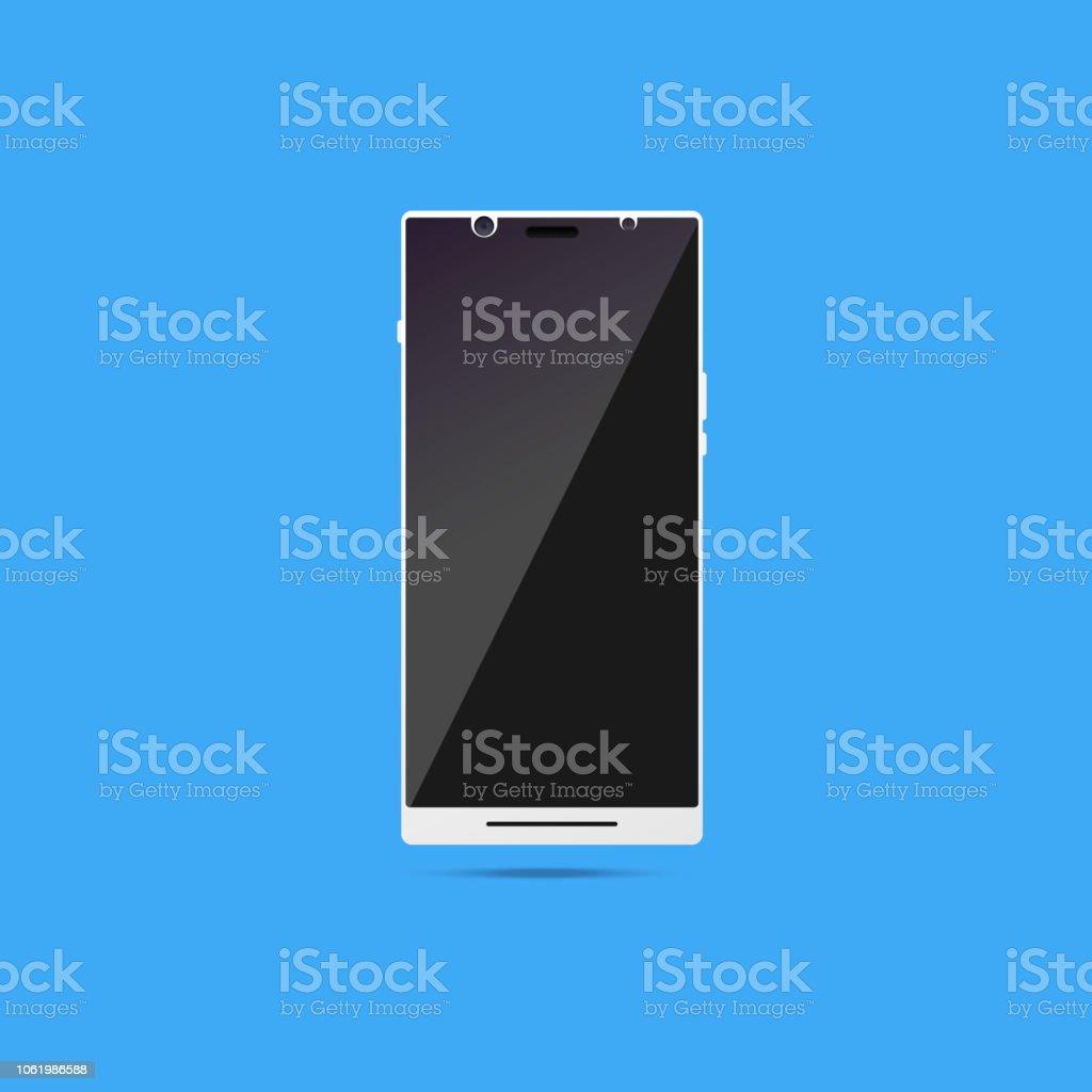 White smartphone mock up. vector art illustration