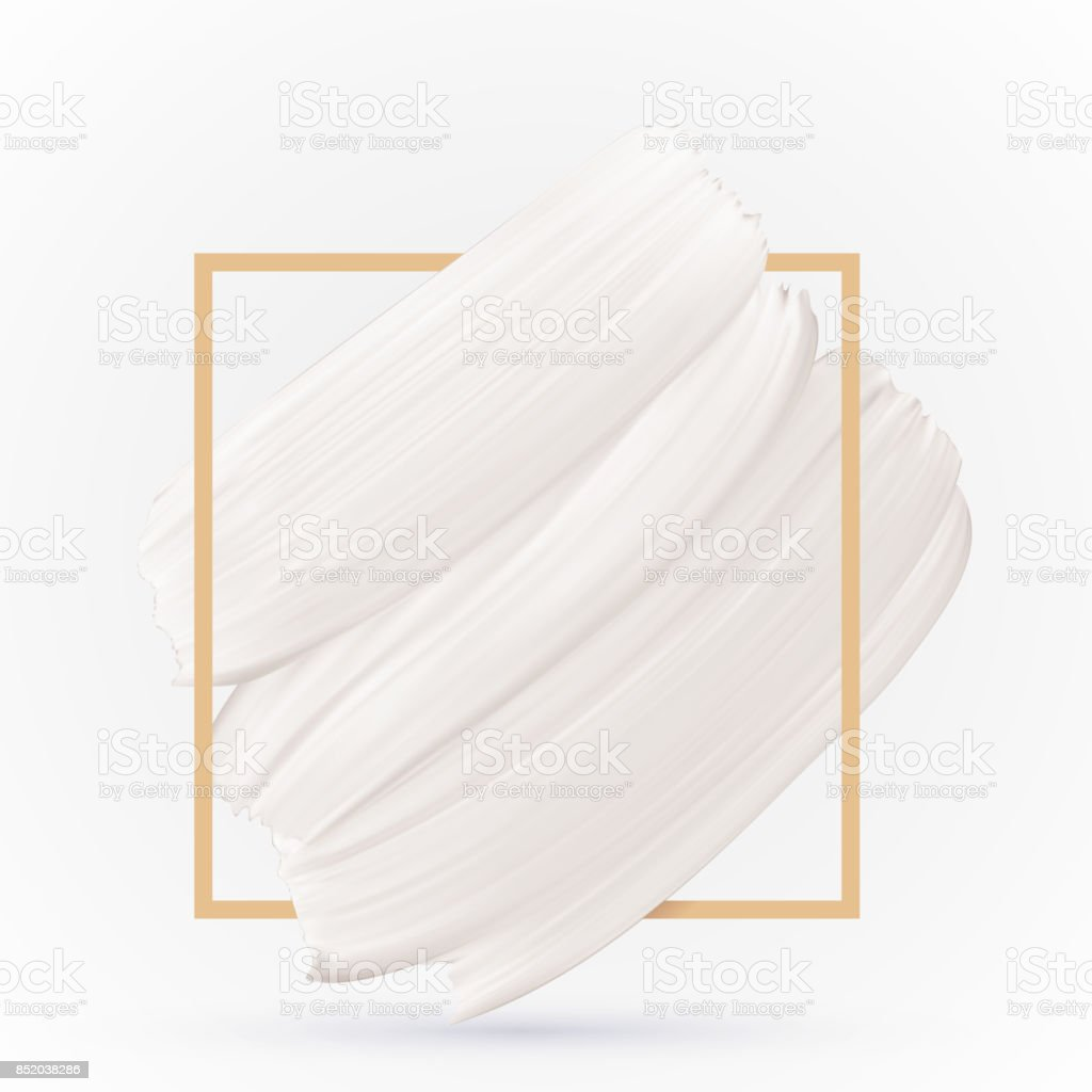 White Smear Texture On White Vector Background Pastel Color Design