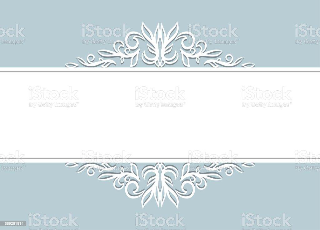 White Snow Floral Background vector art illustration