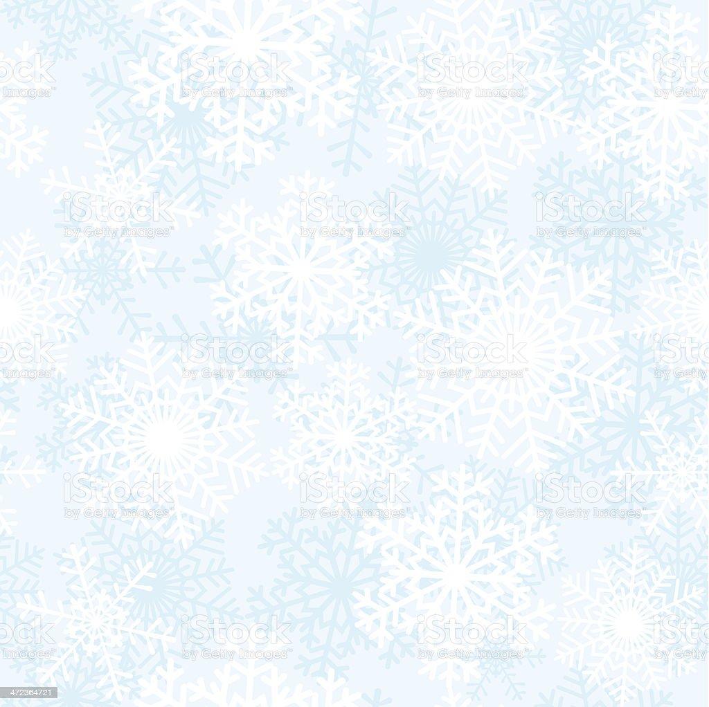 White snowflakes vector art illustration