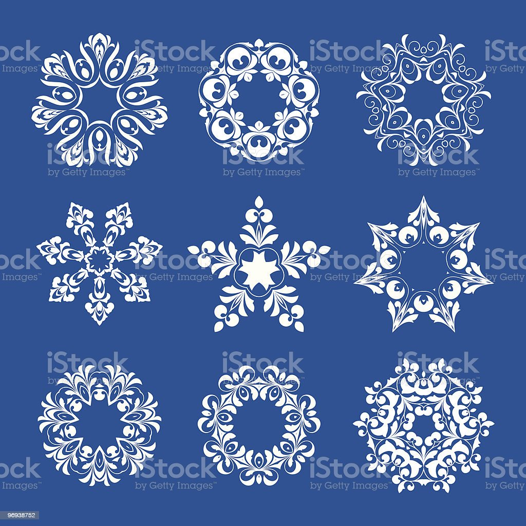 White snowflakes royalty-free white snowflakes stock vector art & more images of abstract