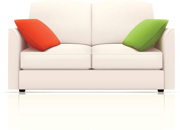 weißen sofa - couch stock-grafiken, -clipart, -cartoons und -symbole