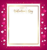 white space board with gold border and happy valentine's day text