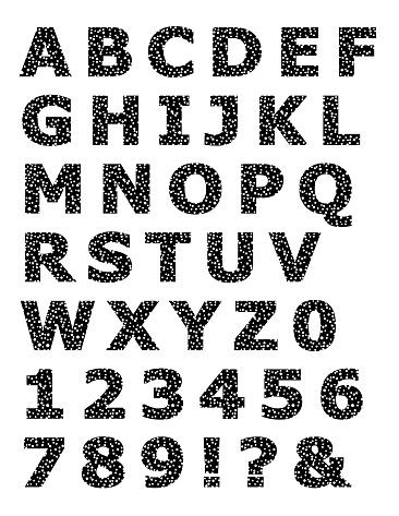 White Speckled Alphabet