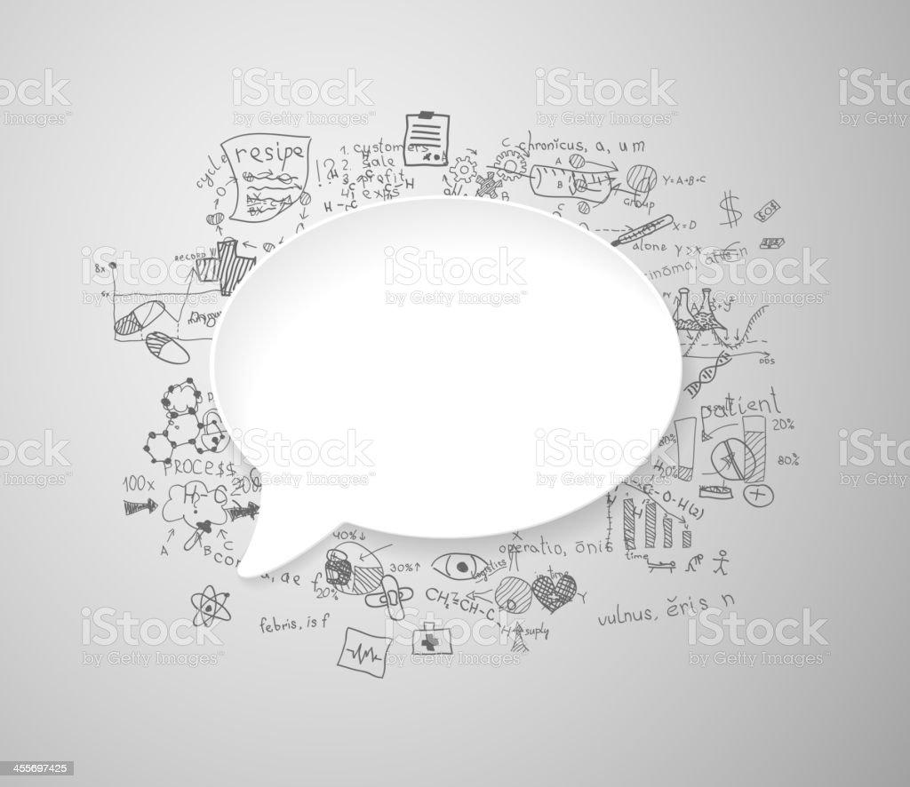 Discurso De Burbujas Blanco Con Medicina Señales - Arte vectorial de ...