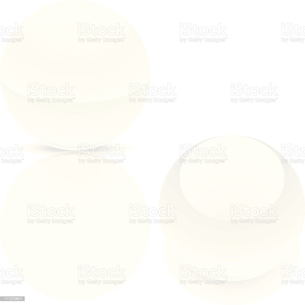 White sphere ball royalty-free white sphere ball stock vector art & more images of circle