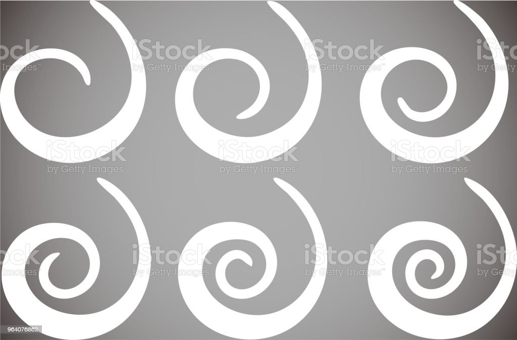 White Spiral shape set - Royalty-free Abstract stock vector