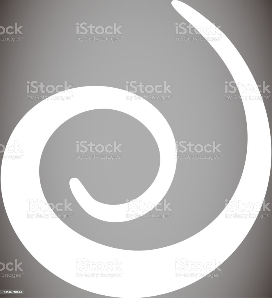 White Spiral shape - Royalty-free Abstract stock vector
