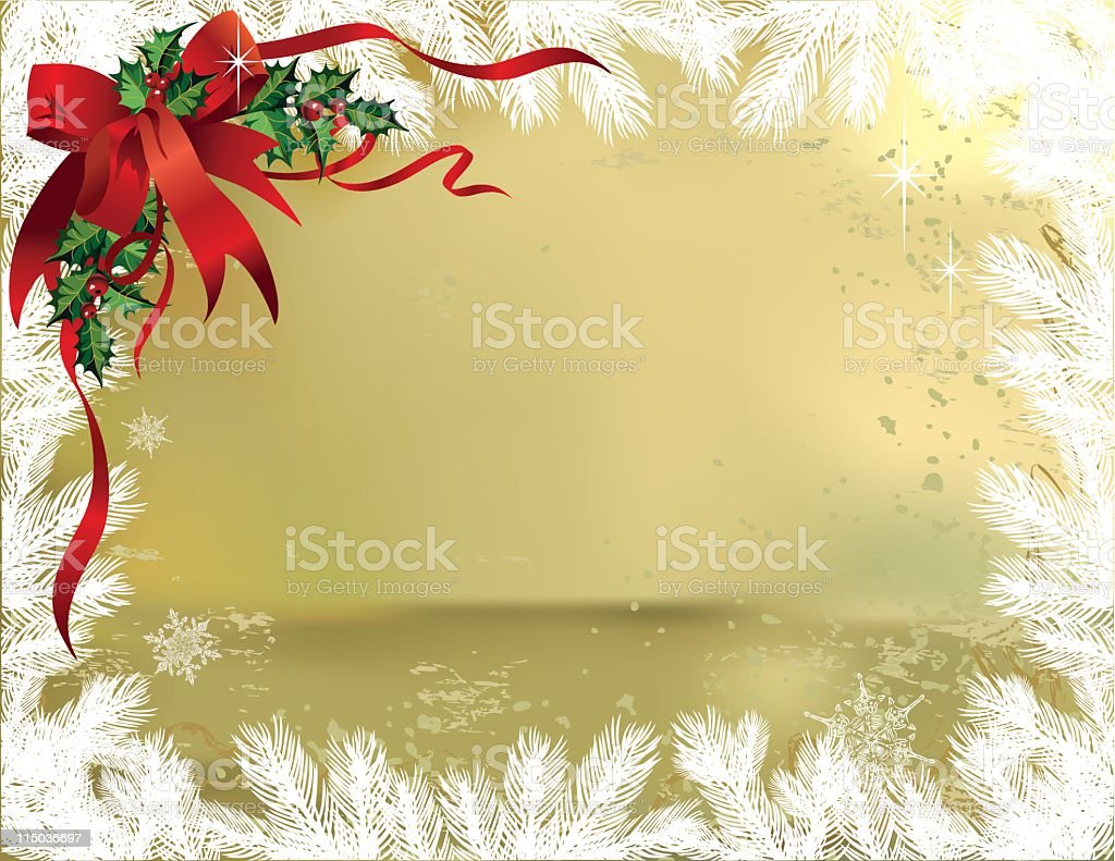 White Spruce on Gold royalty-free stock vector art