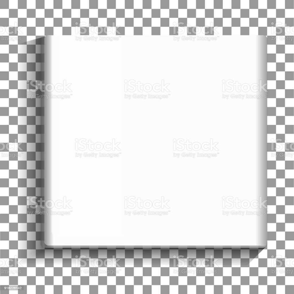 White Square Empty Picture Frame On Transparent Background Blank ...