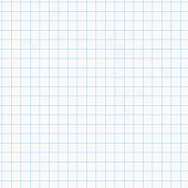 White squared graph paper seamless sheet texture, vector background