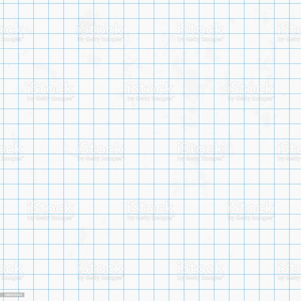 White squared graph paper seamless vector art illustration