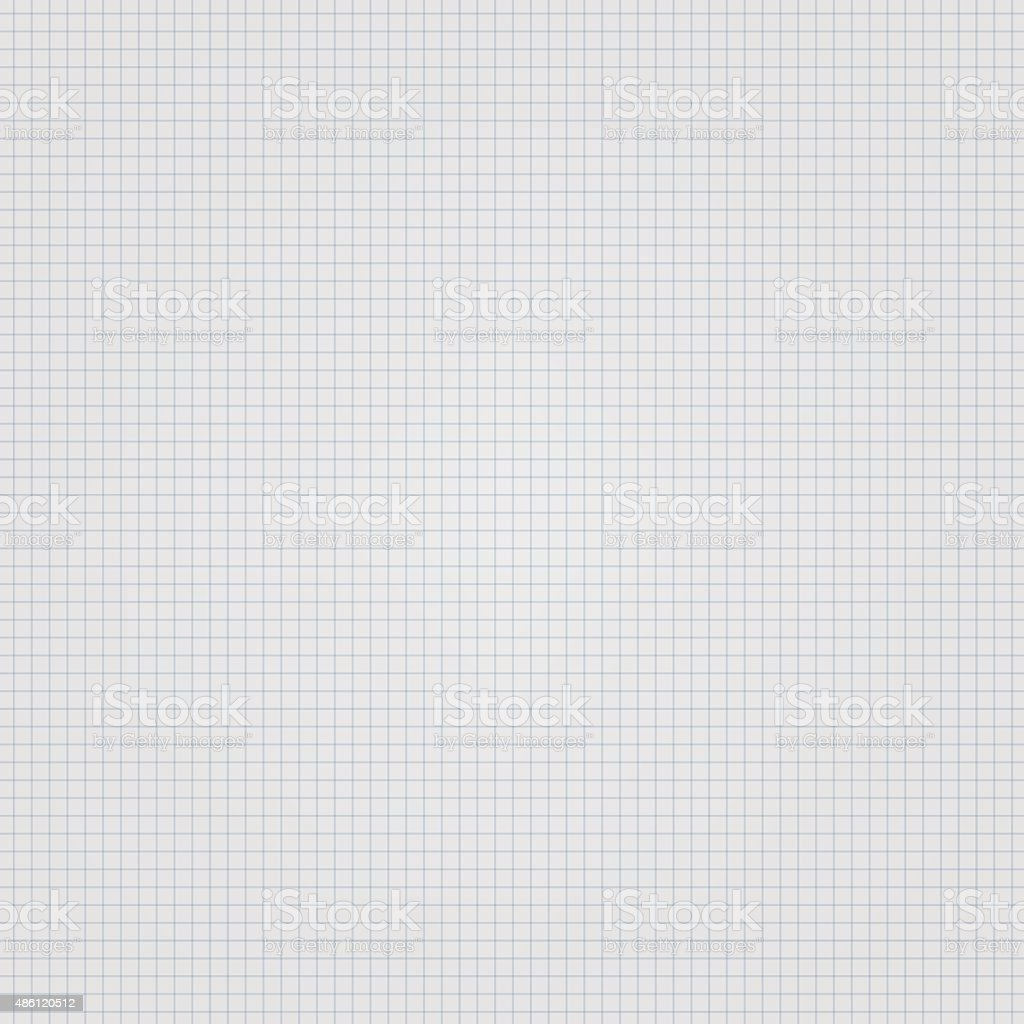 White squared paper seamless sheet texture, background vector art illustration