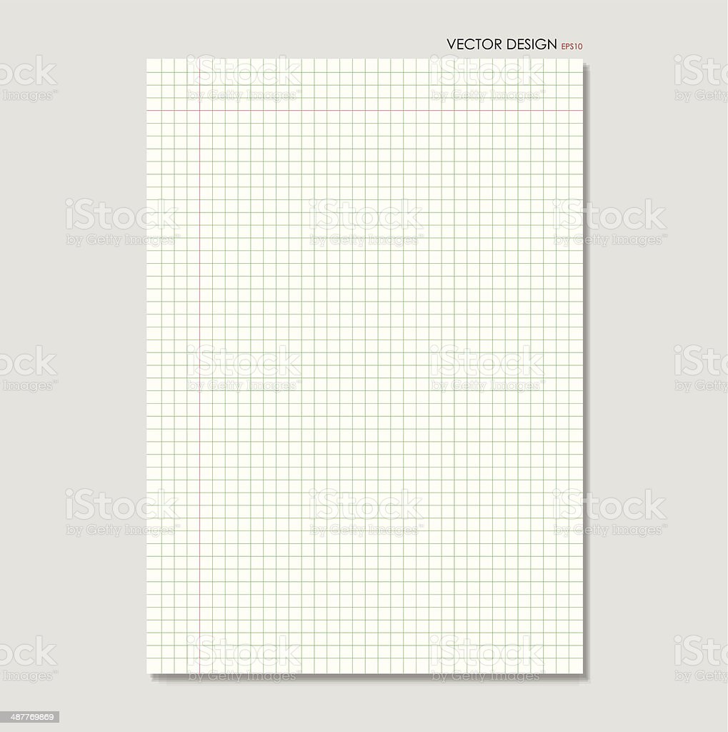 White squared paper sheet background, vector illustration. royalty-free white squared paper sheet background vector illustration stock vector art & more images of back to school