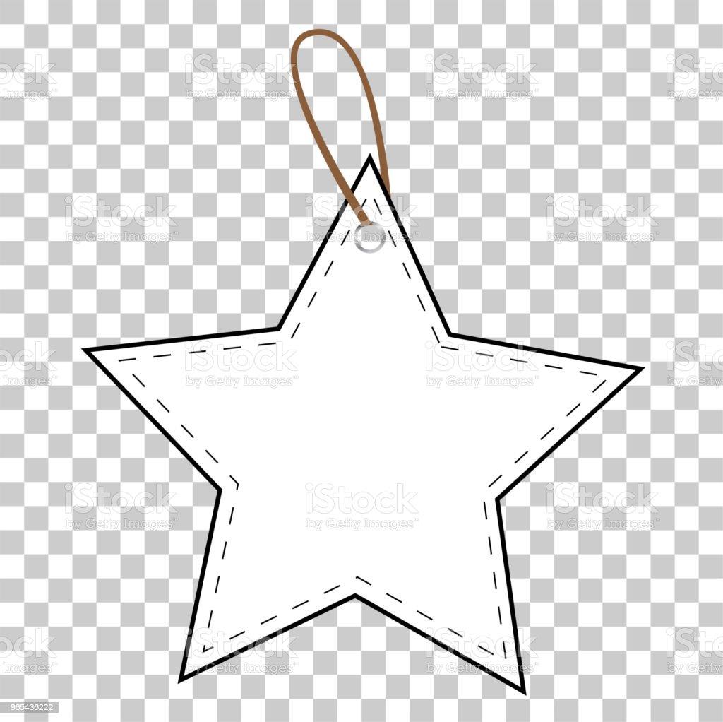 투명 효과 배경에서 흰색 스타 빈 태그 - 로열티 프리 0명 벡터 아트