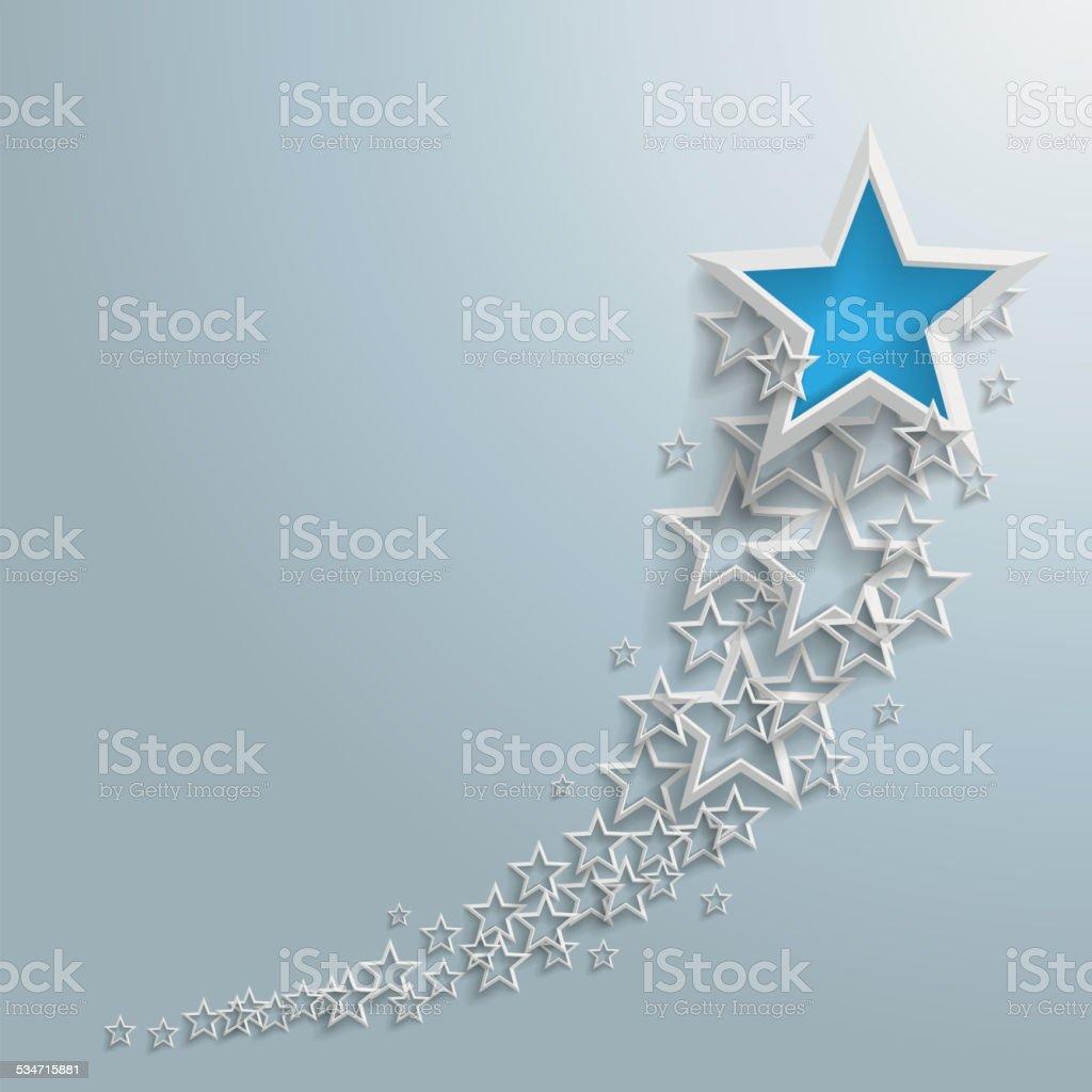 White Stars Dust Growth Blue Star vector art illustration