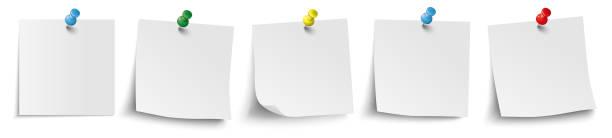 5 weiße stöcke farbige stifte header - feststecken stock-grafiken, -clipart, -cartoons und -symbole