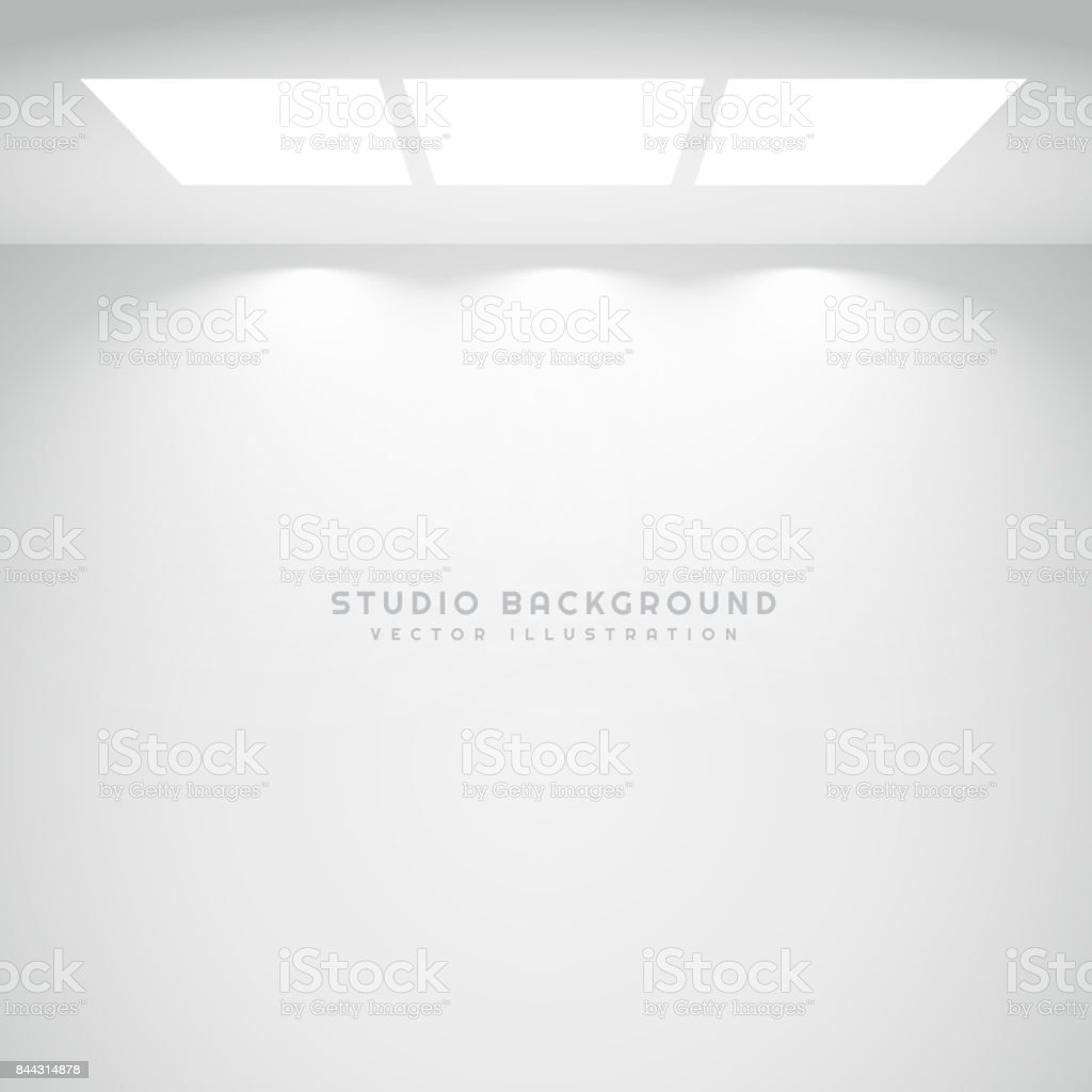 white studio lights background