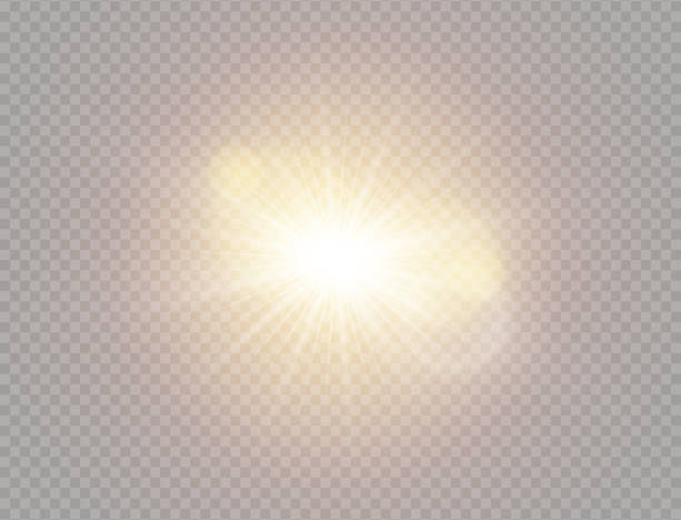 white sunlight light - spark stock illustrations