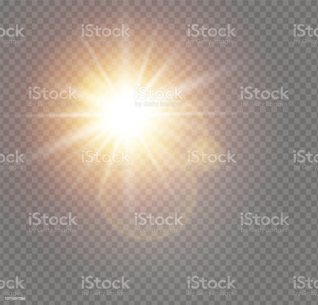 Luz do sol branco - Vetor de Abstrato royalty-free