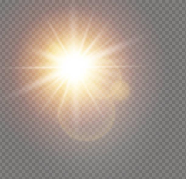 bildbanksillustrationer, clip art samt tecknat material och ikoner med vitt solljus ljus - sun