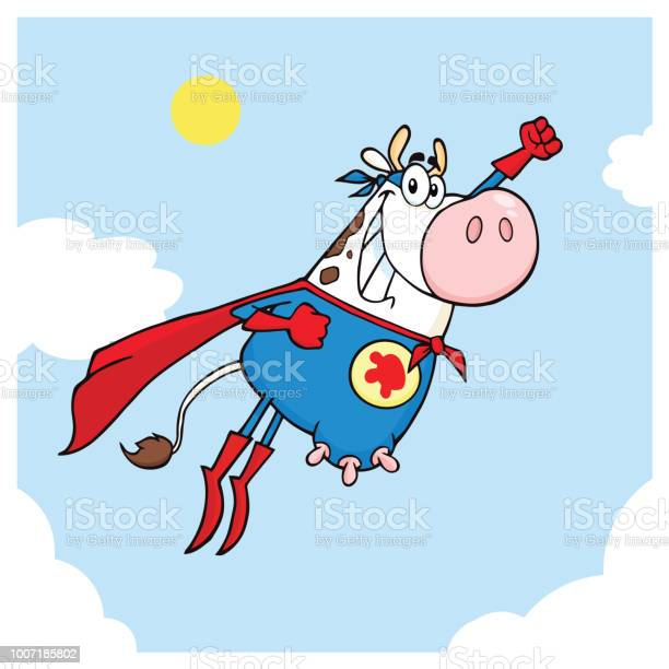 White super hero cow cartoon mascot character flying vector id1007185802?b=1&k=6&m=1007185802&s=612x612&h=dbcz0tbt hv9h zimikxugnfe9sxnteyrnt51jo11de=