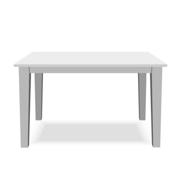 White Table Vector Art Illustration