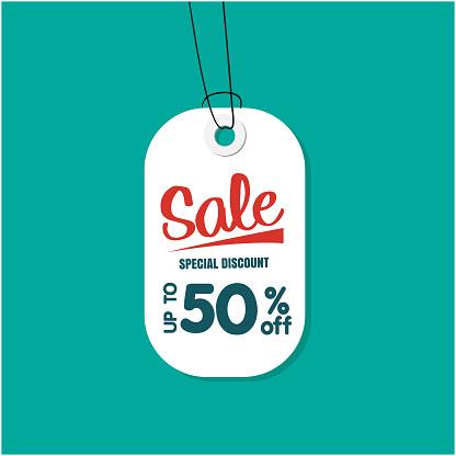 Vit Tag Försäljning Special Rabatt Upp Till 50 Rabatt Vektorbild-vektorgrafik och fler bilder på Affär