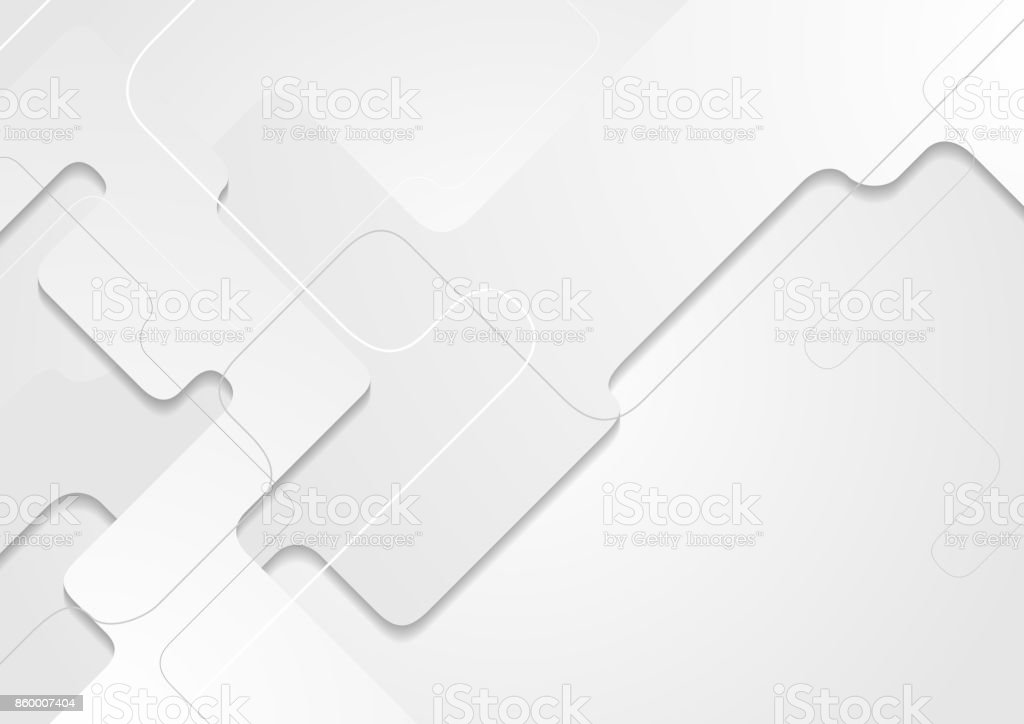 White tech geometric paper material corporate background vector art illustration