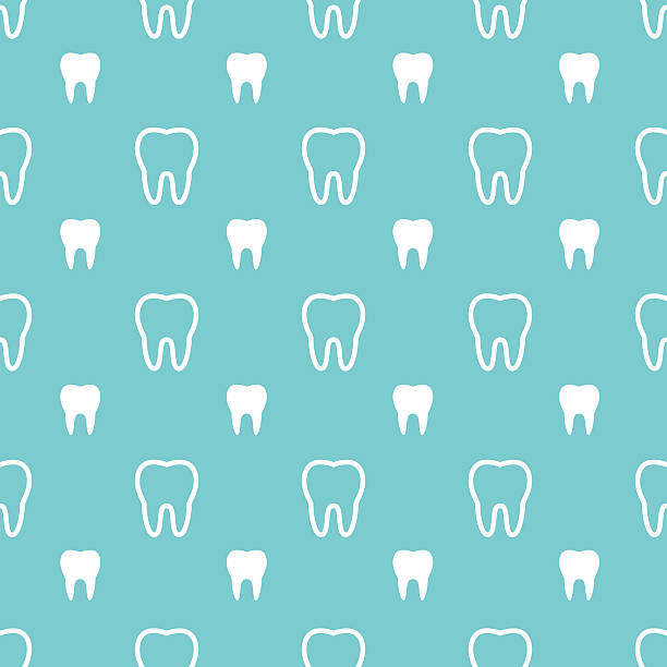white teeth on turquoise background. - dentist stock illustrations, clip art, cartoons, & icons