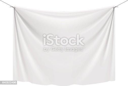 istock White Textile Banner 640920496