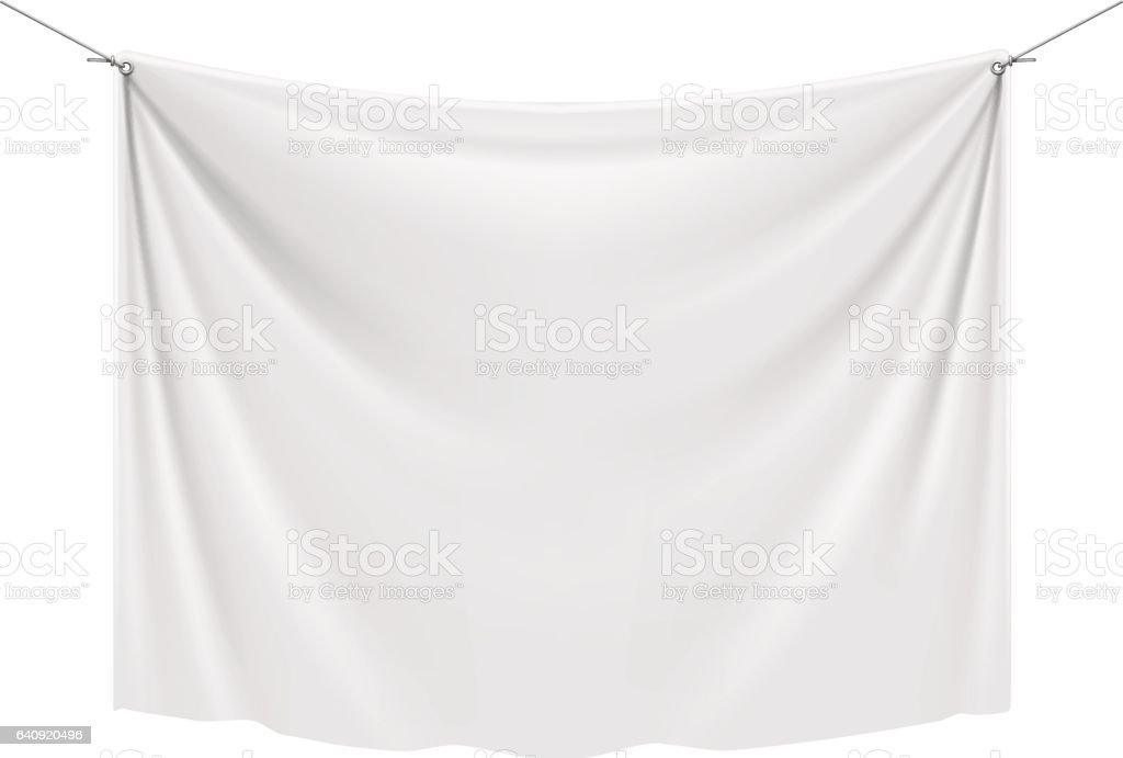 White Textile Banner vector art illustration