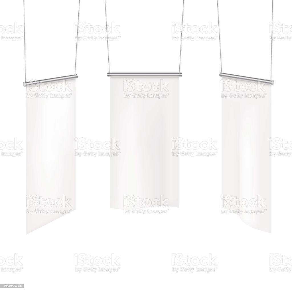 White textile banners template set. vector art illustration