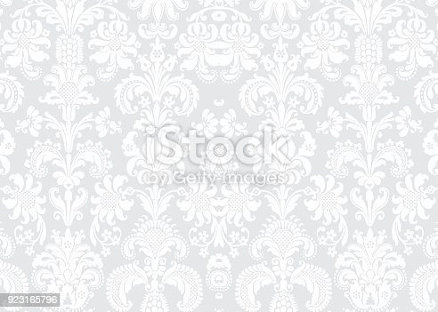 Detailed Vector Background with antique and baroque flowers. For spring and summer design.
