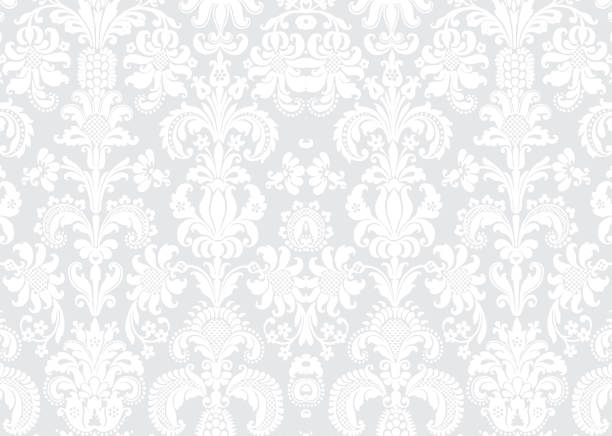 white texture 29 - floral and decorative background stock illustrations