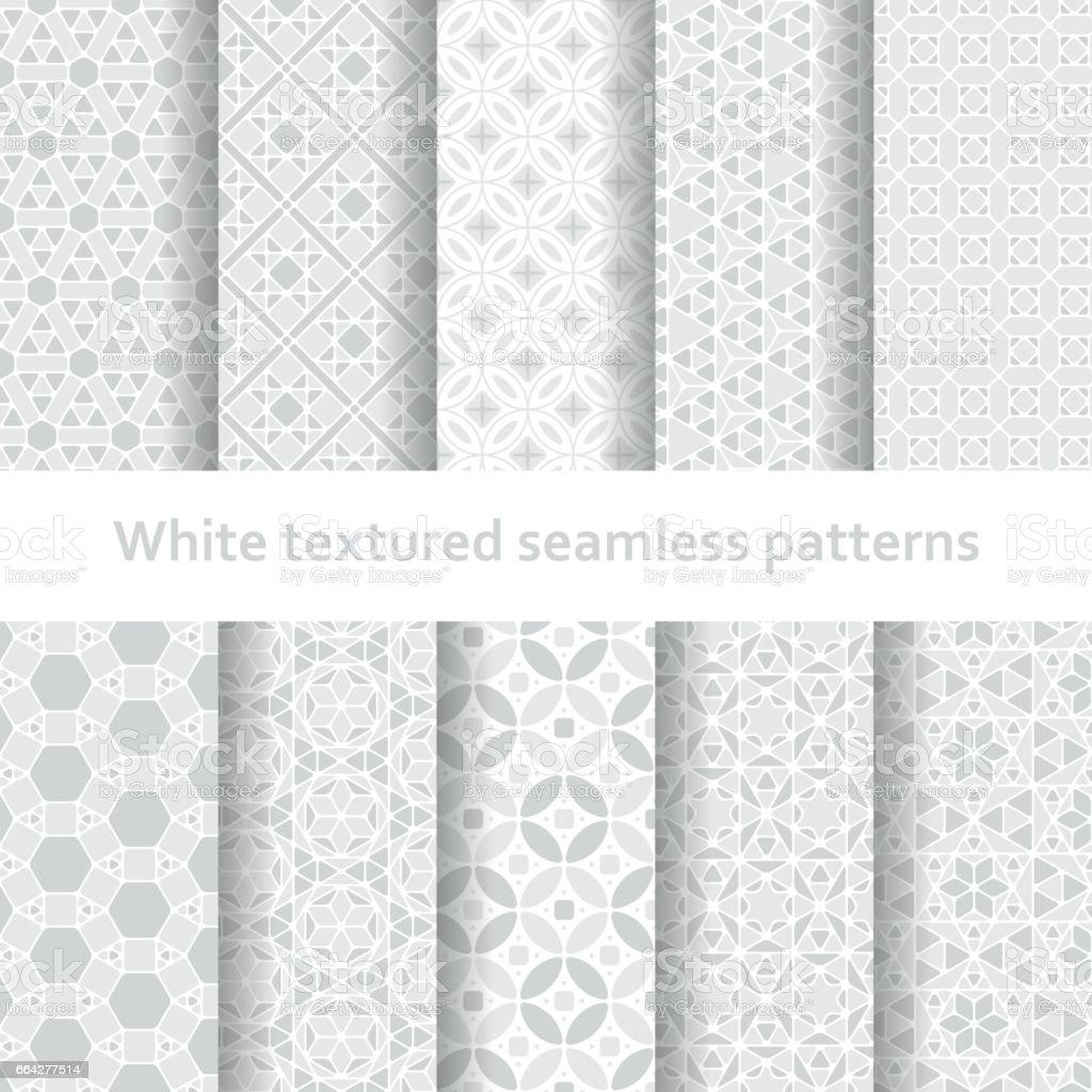 Ilustración de Blanco Con Textura Conjunto De Patrones Sin Fisuras y ...